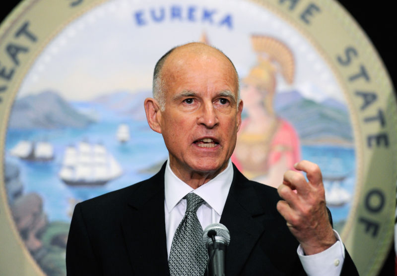 Jerry Brown has indicated he would be willing to rethink the state's sentencing law.