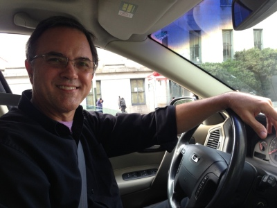 Dan Carrigan drives for Lyft to help pay the bills. (Sam Harnett/KQED)