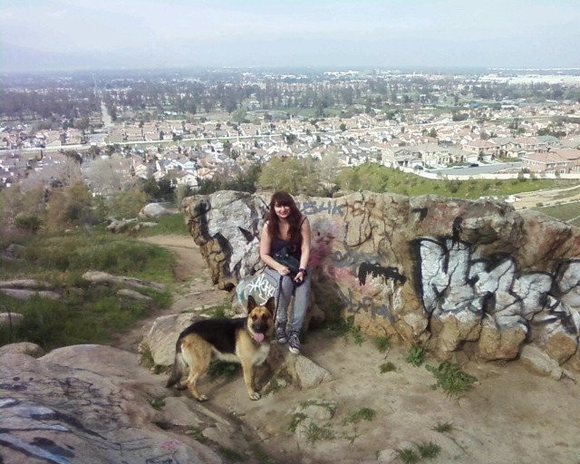 Hiking near Jurupa Valley, to my right is Colton and San Bernardino, to my left is Rialto and Fontana.