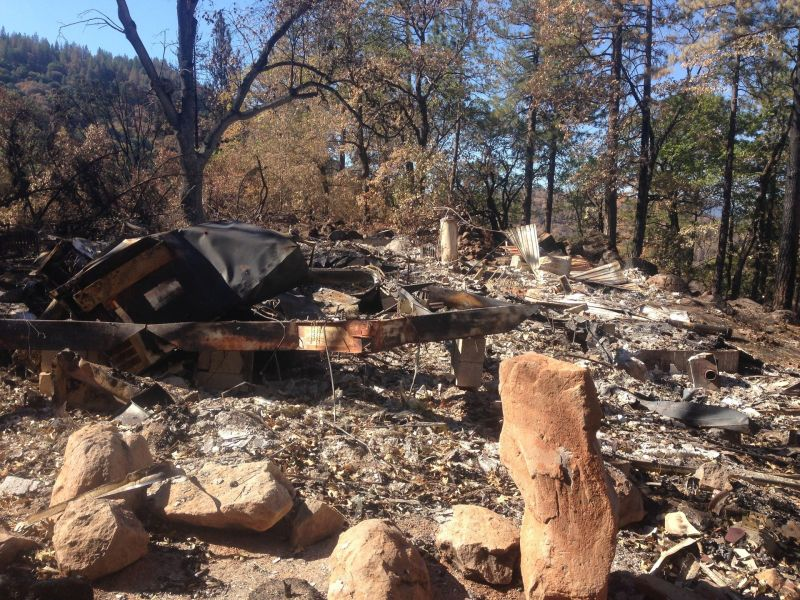 More than 1200 people lost their homes in the Valley Fire. This is the remains of Meg McDonnell's house.