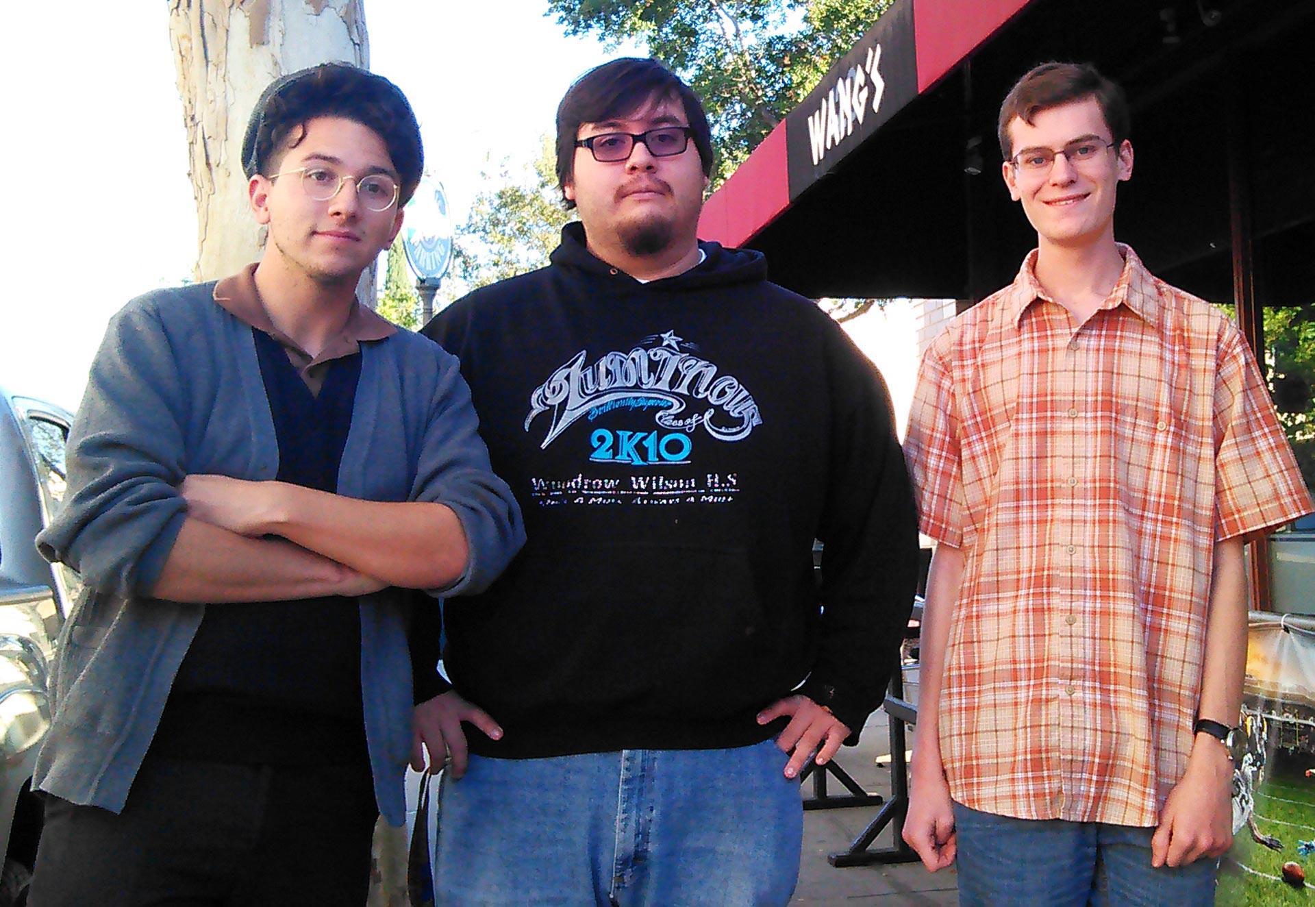 Rose Leaf Ragtime Club members Vincent Johnson, Edward Maraga and Ryan Wishner (L-R).