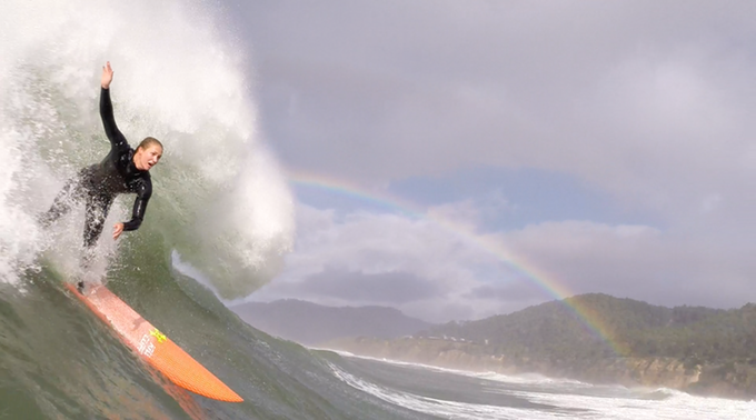 Maui big-wave surfer Paige Alms says women are already good enough to surf in Mavericks.