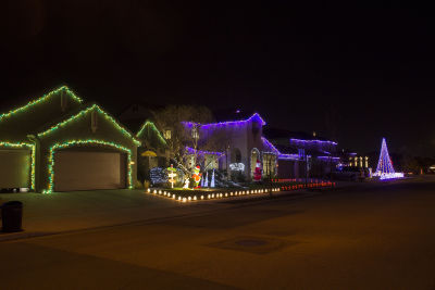 sixteen houses light up santa claus lane free to visitors through new years eve