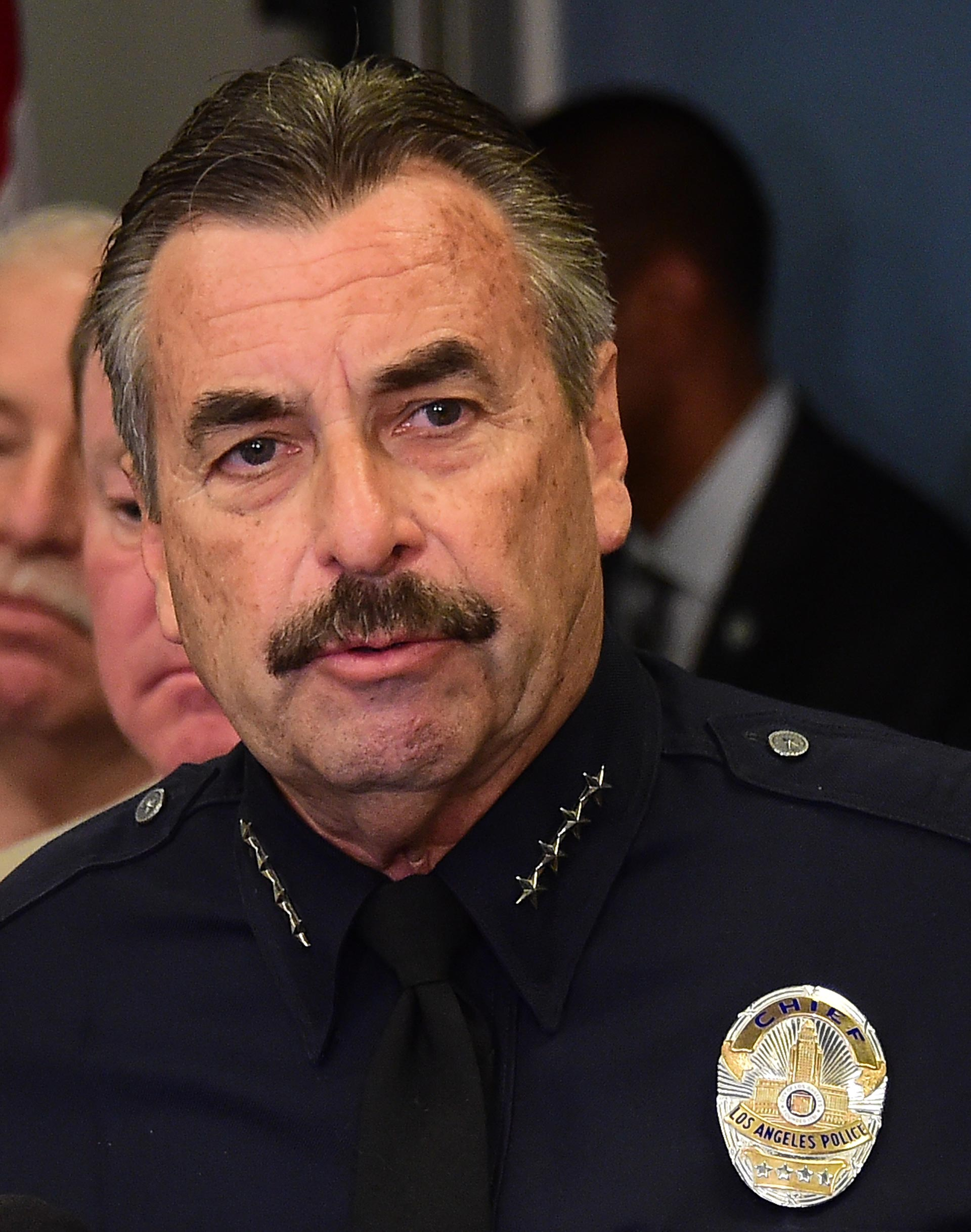 Los Angeles police chief Charlie Beck.