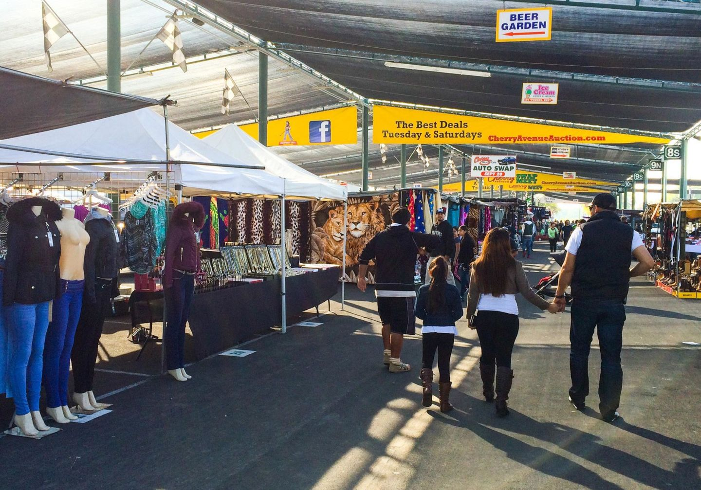 The Cherry Auction's booths, full of clothing, furniture, food and cars, sprawl across 54 acres in southern Fresno.