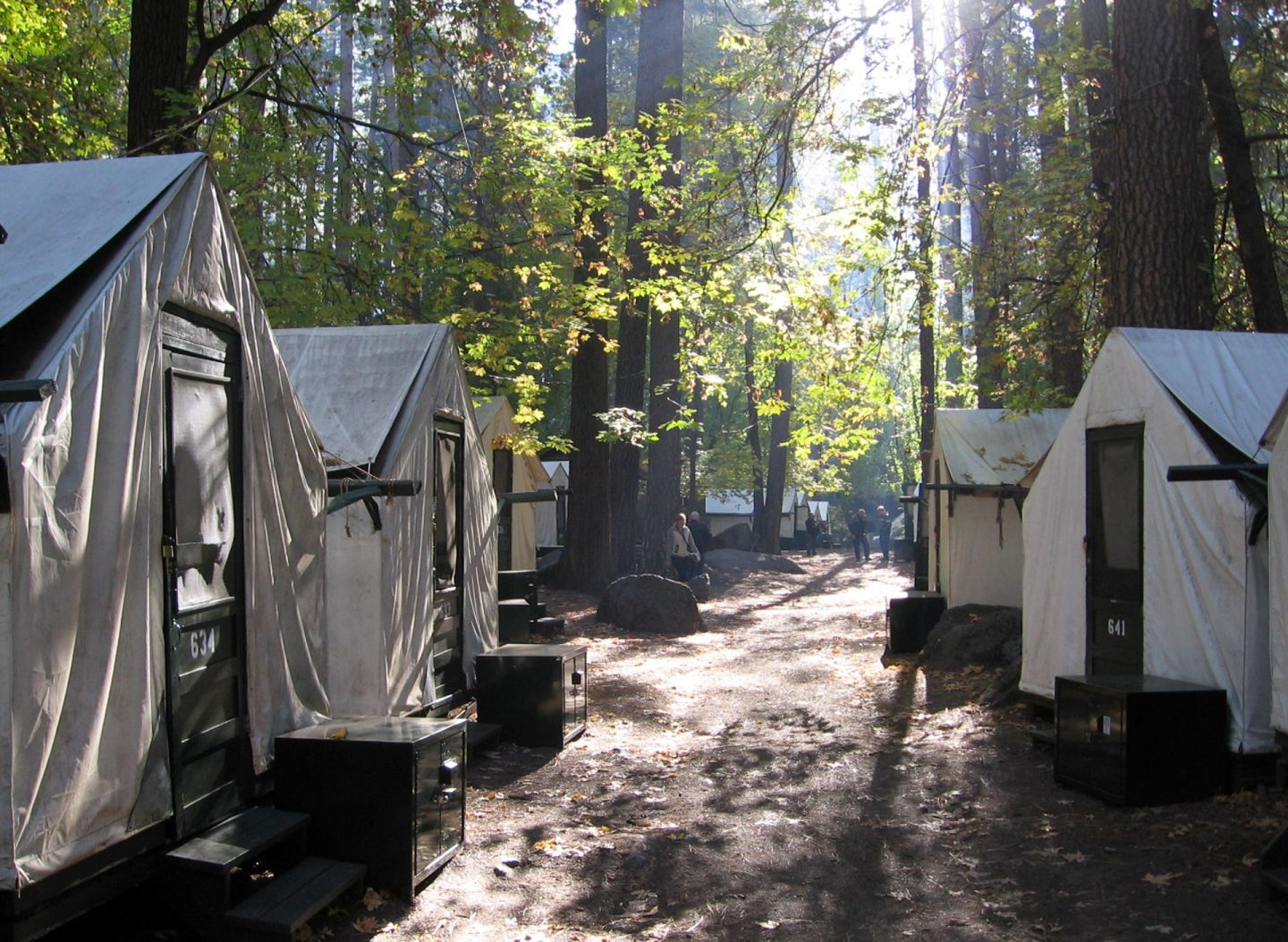 Tent cabins at Yosemite's Curry Village, now to be called Half Dome Village.