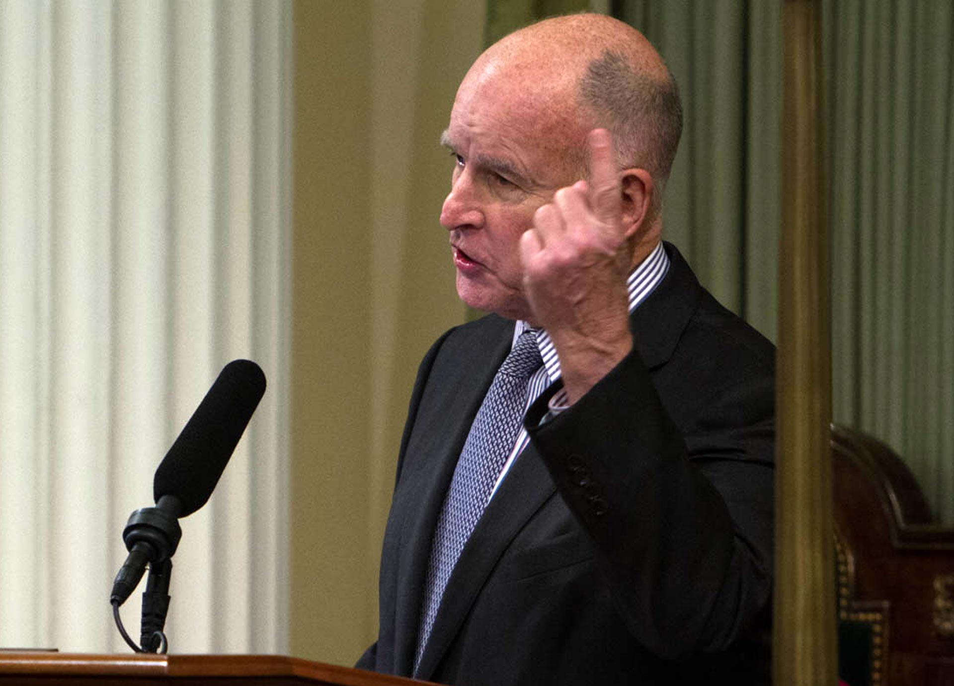 Gov. Jerry Brown delivers his 2016 State of the State Address on Thursday.