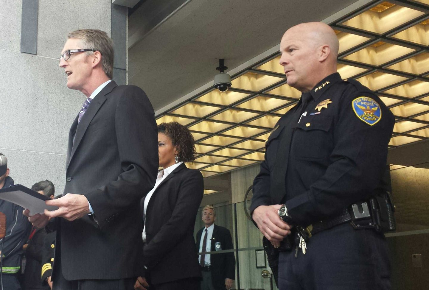 FBI Special Agent in Charge David Johnson with SFPD Chief Greg Suhr at a 2014 press conference.