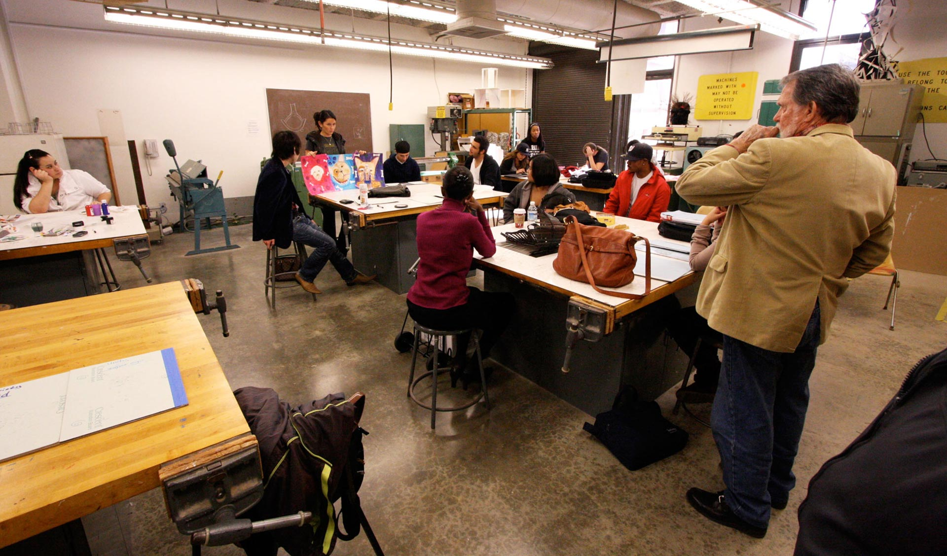 Students participate in an art class at CSU Dominguez Hills.
