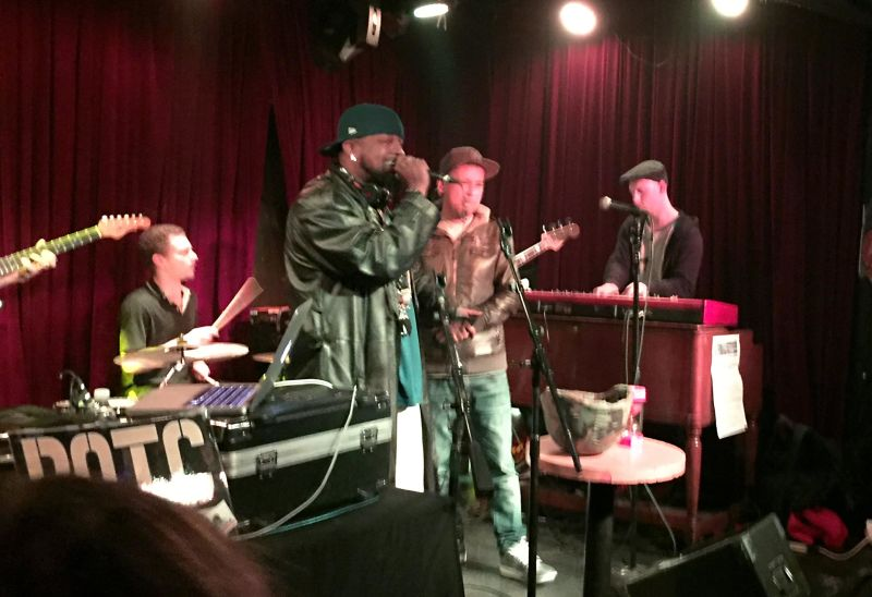 Hip-Hop artist Flo J Simpson takes the stage at the Boom Boom Room in San Francisco. The Sunday night Return of the Cypher event draws rappers from across the Bay Area.