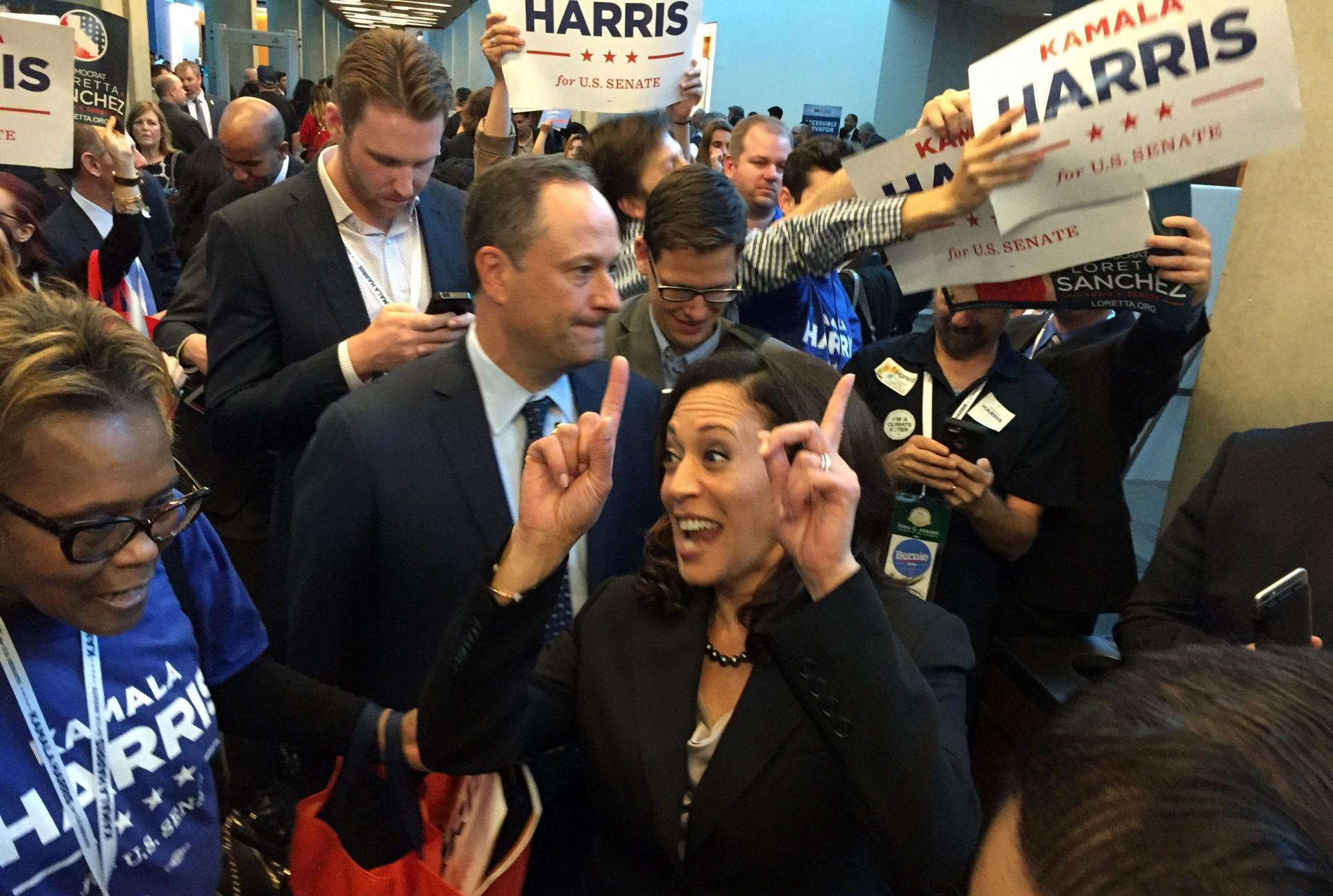 Attorney General Kamala Harris won an overwhelming endorsement from delegates at the State Democratic Party Convention this weekend in San Jose.