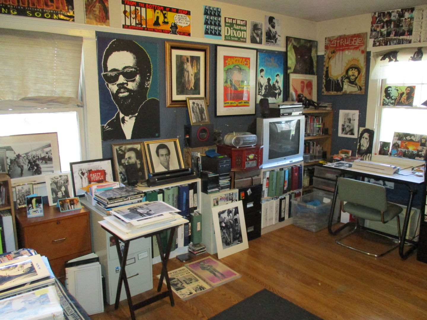 The house of Billy X Jennings, a former Black Panther whose home is a museum to the history of the party and the movement.  Joshua Johnson