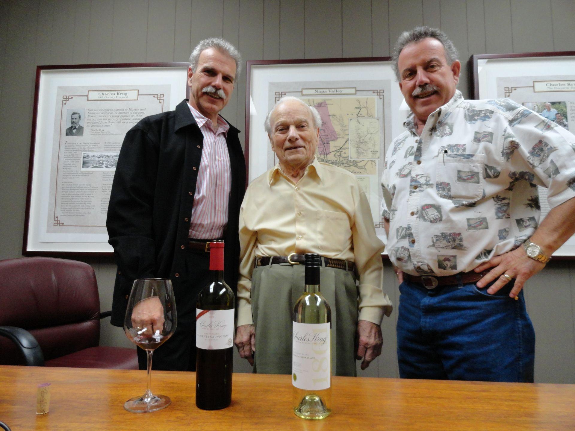 Peter Mondavi Jr., Peter Mondavi Sr., Marc Mondavi.