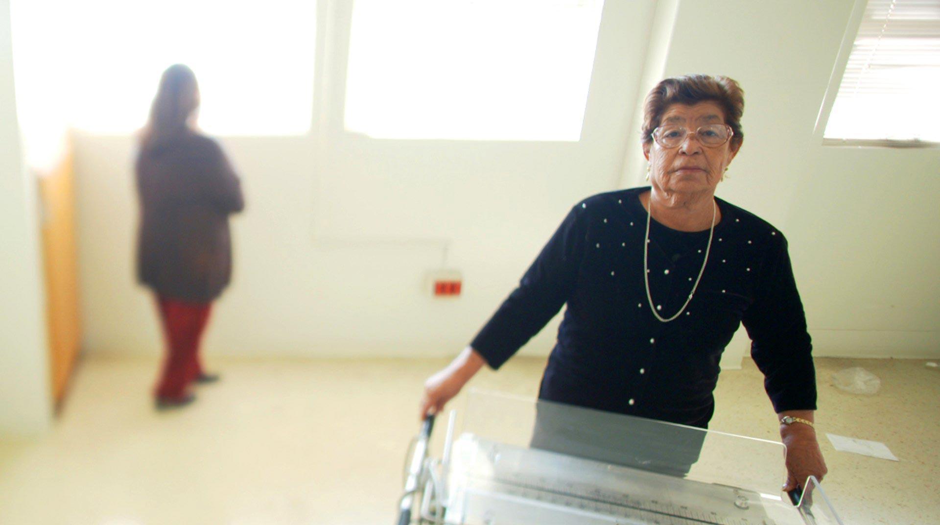 "Carolina ""Maria"" Hurtado in the now abandoned maternity ward of the Los Angeles County-USC Medical Center, where she was sterilized four decades ago."