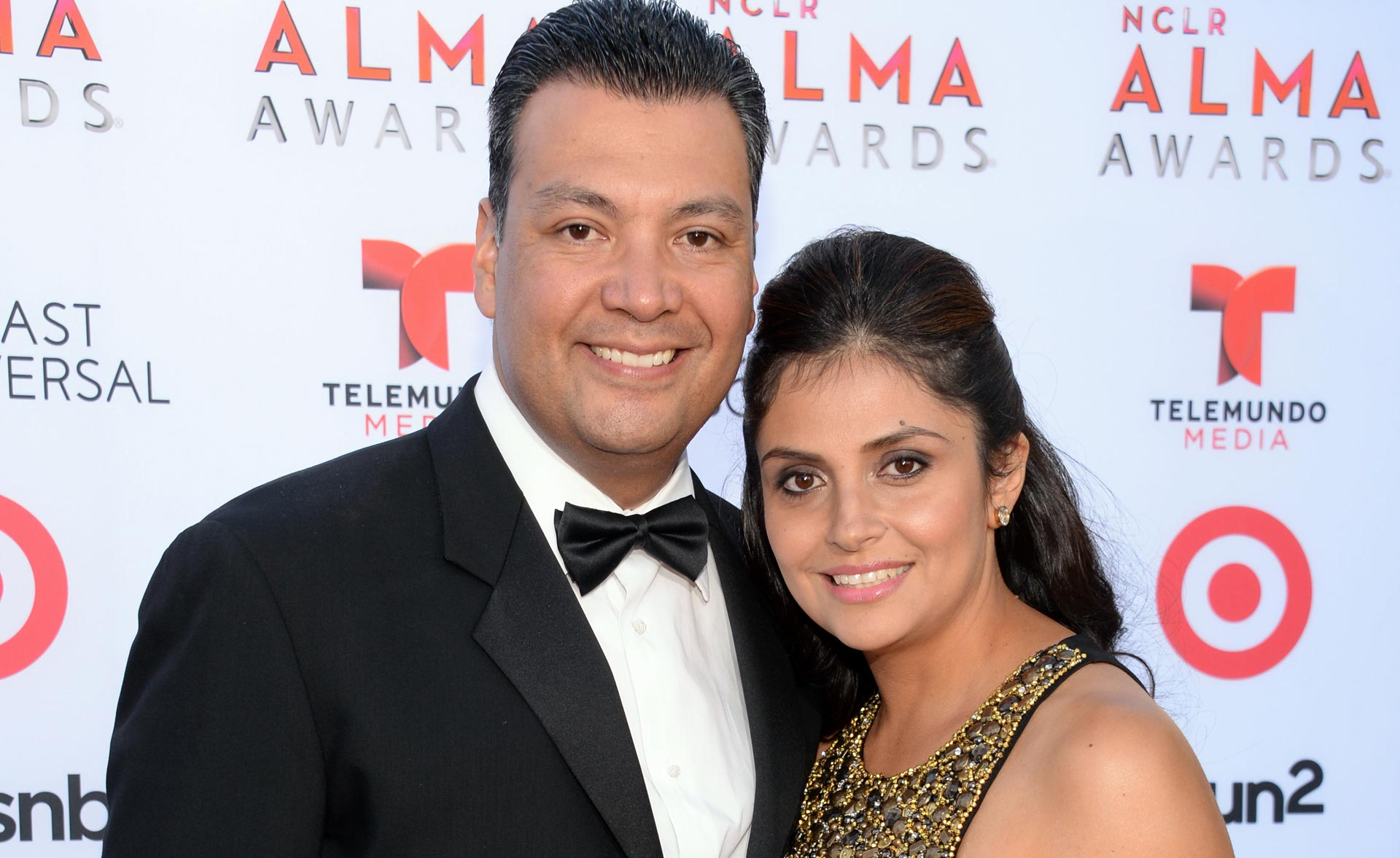 Secretary of State Alex Padilla and his wife Angela attend an awards event in Pasadena in 2013.