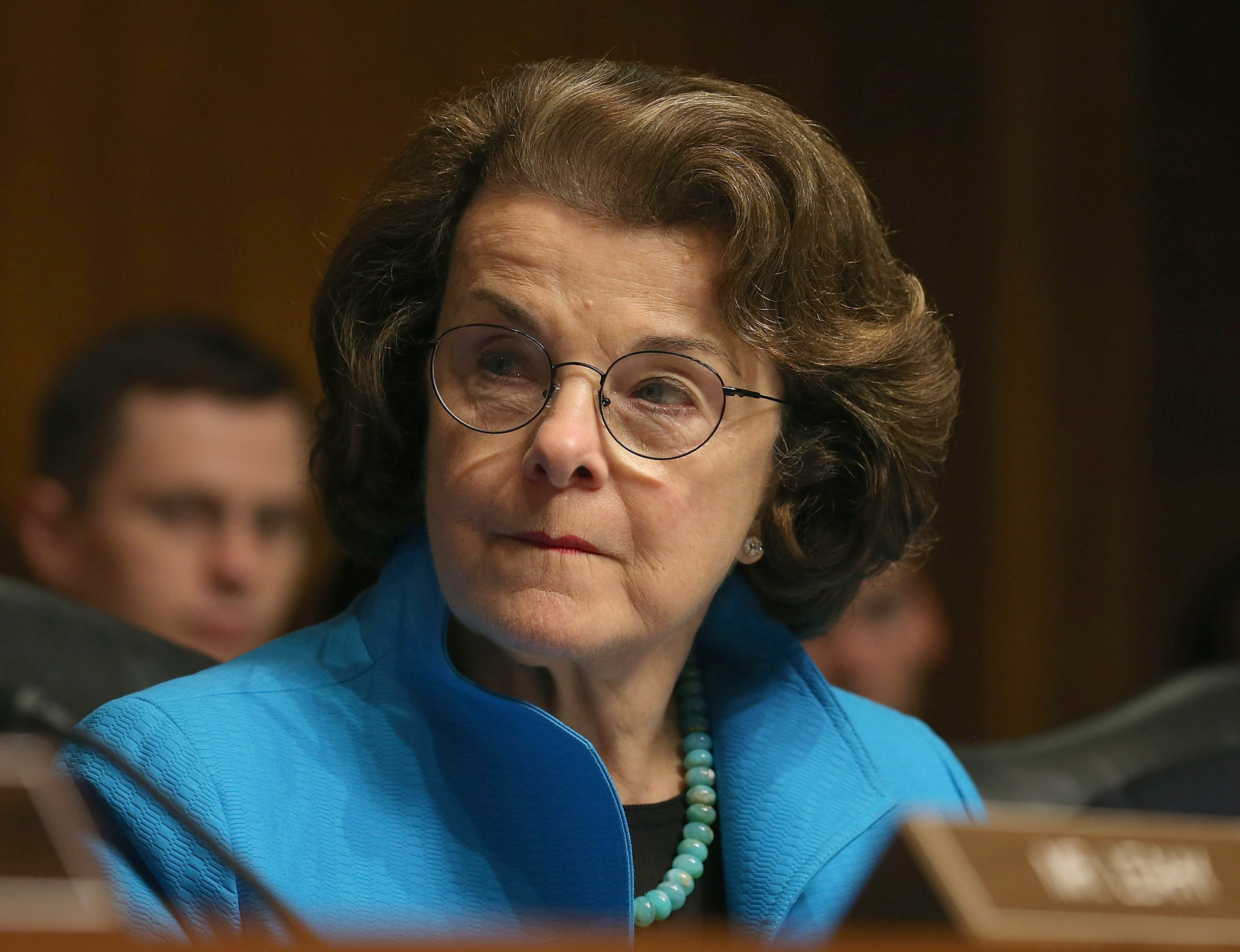 WASHINGTON, DC - JULY 08: Sen. Dianne Feinstein (D-CA) participates in a Senate Judiciary Committee hearing on Capitol Hill, July 8, 2015 in Washington, DC. The committee was hearing testimony on encryption technology, and the balance between public safety and privacy.