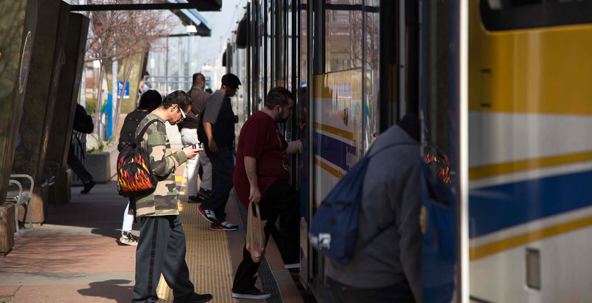 The Meadowview light-rail station in South Sacramento connects the working-class neighborhood to downtown Sacramento. Andrew Nixon/Capital Public Radio