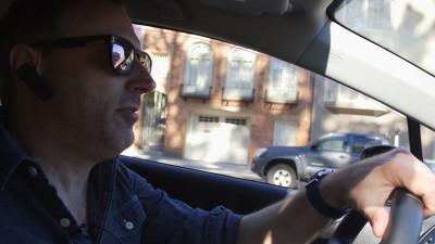 Mike Banko has been a driver for Lyft since December 2012. (Adam Grossberg/KQED)