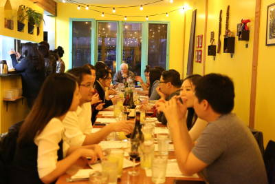 About 30 guests attended Filipino Kitchen's San Francisco popup dinner.