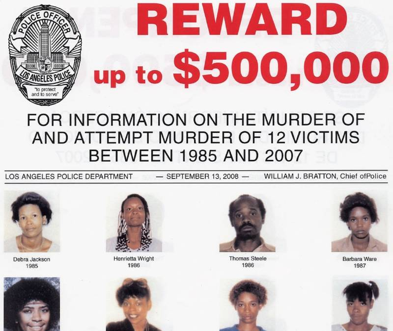 Detail of LAPD wanted poster