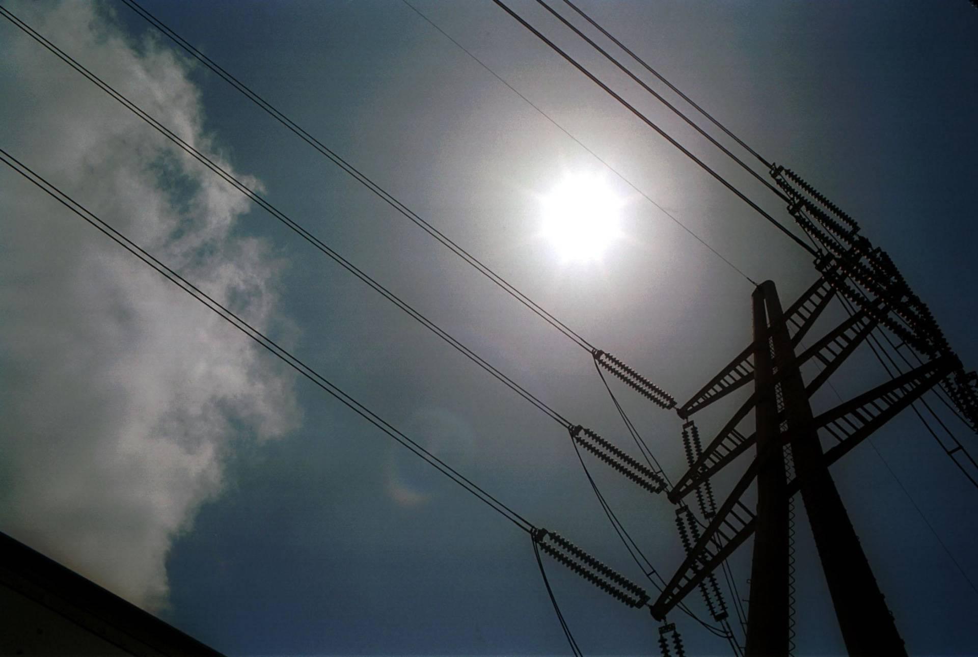 Power lines in Redondo Beach, California.