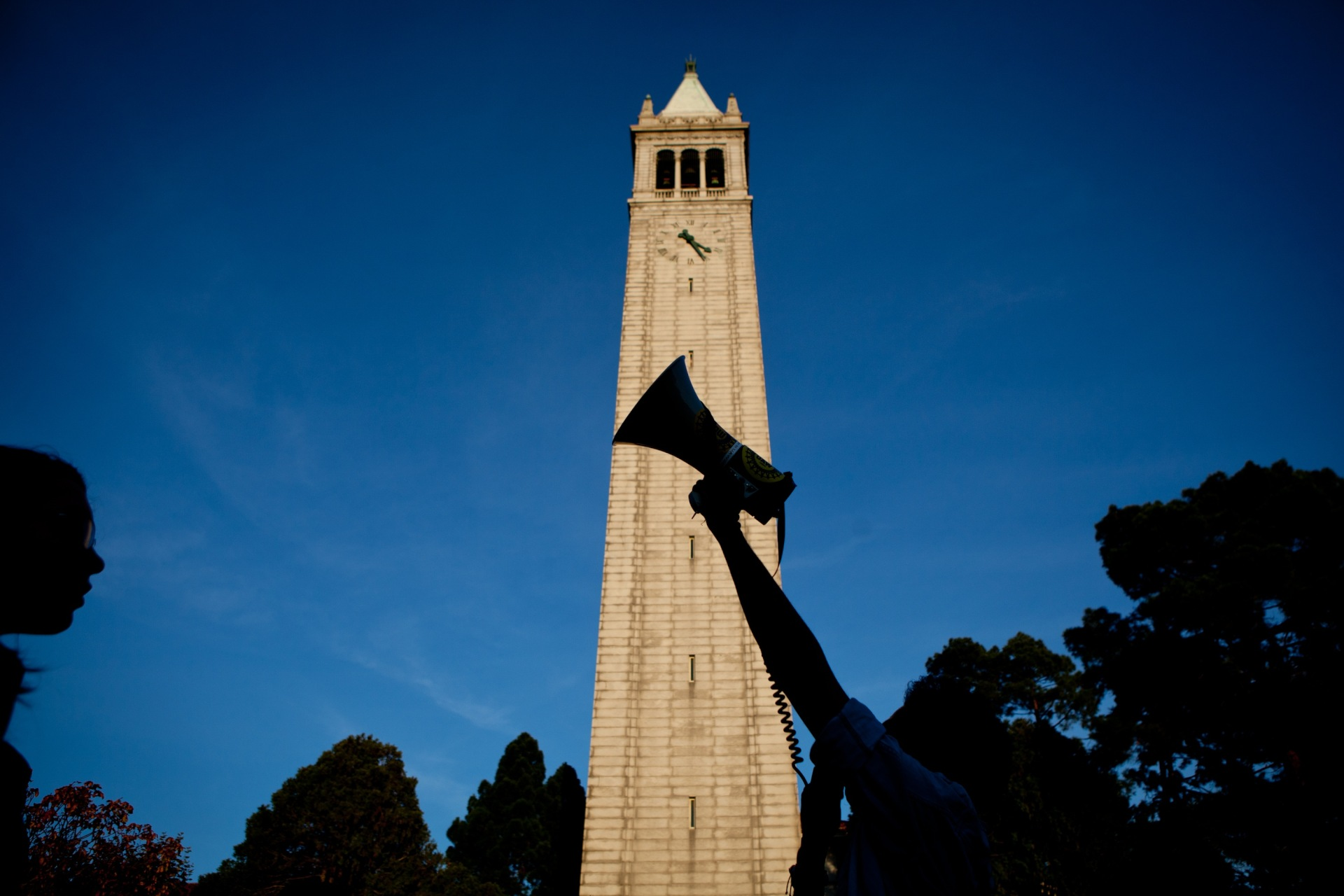 File photo of protests at UC Berkeley.