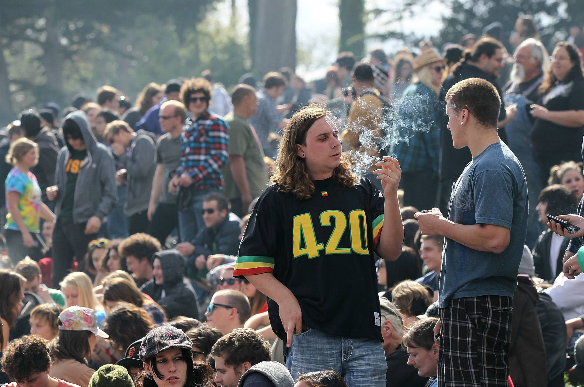 """April 20, 2010 at """"Hippie Hill"""" in San Francisco's Golden Gate Park."""