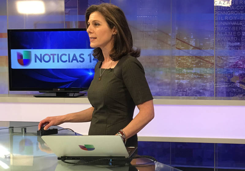 Longtime Univision 14 anchor Maria Leticia Gomez has a strong connection with viewers after emigrating from Argentina. She encourages viewers to vote and visits high schools promoting registration.