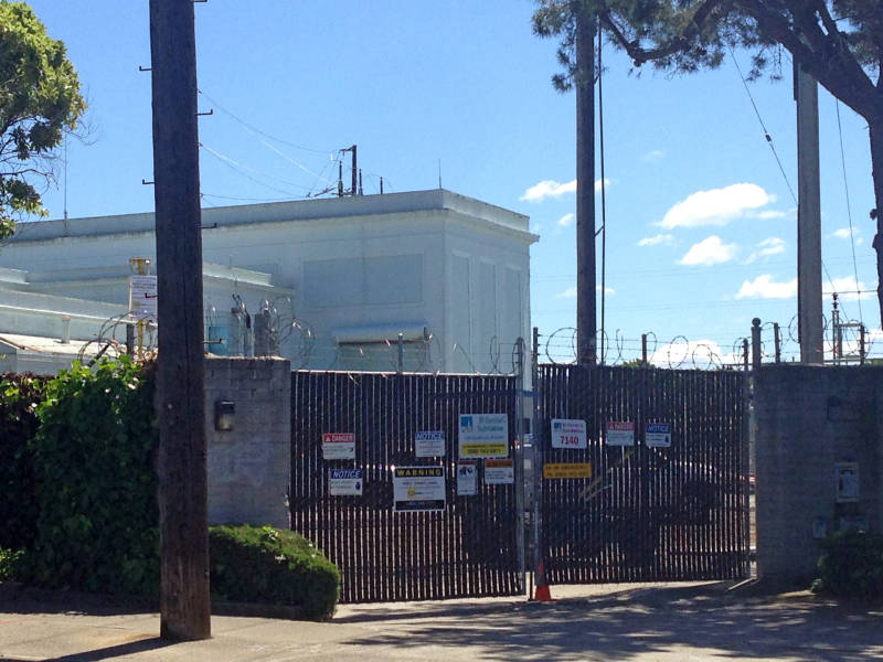 A fire at this substation in El Cerrito caused a power outage on Monday, April 25, 2016.