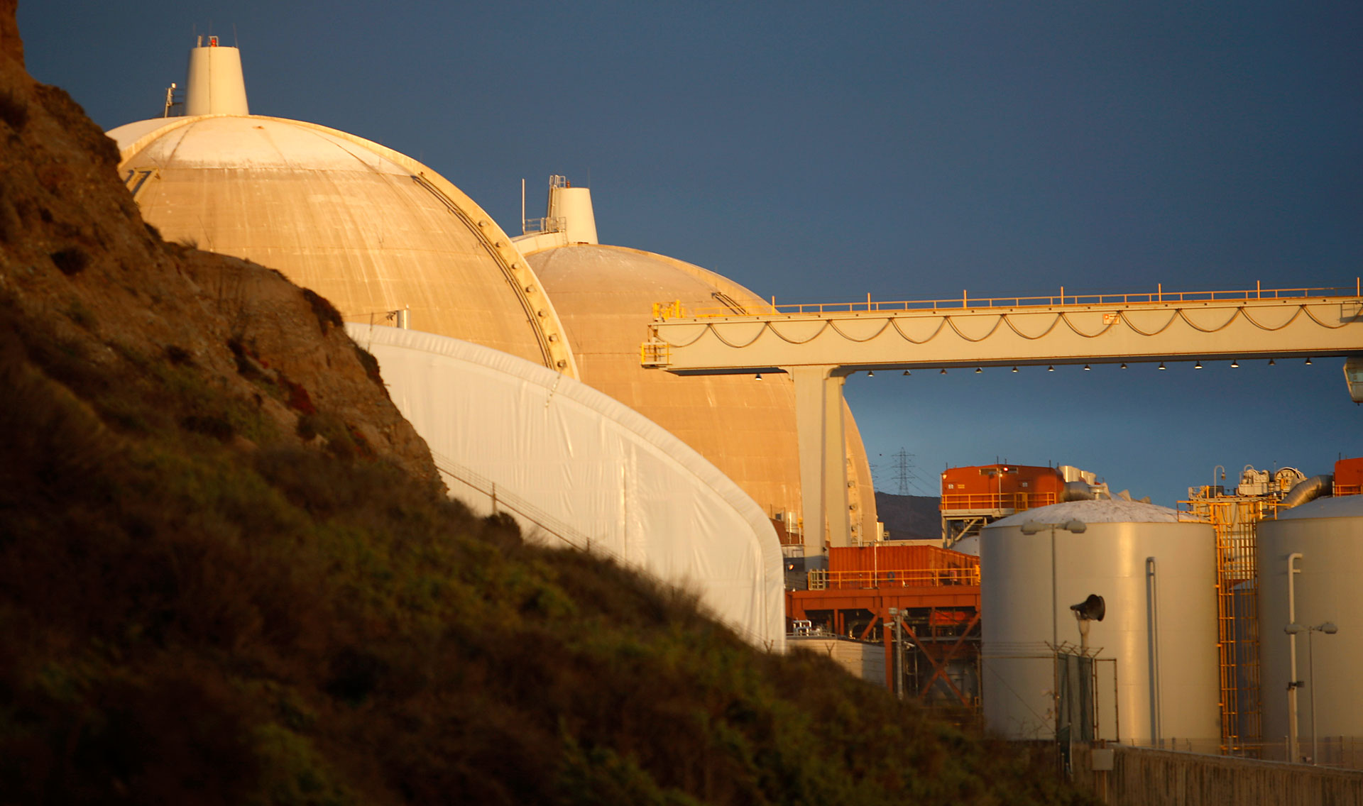 The San Onofre Nuclear Generating Station south of San Clemente.