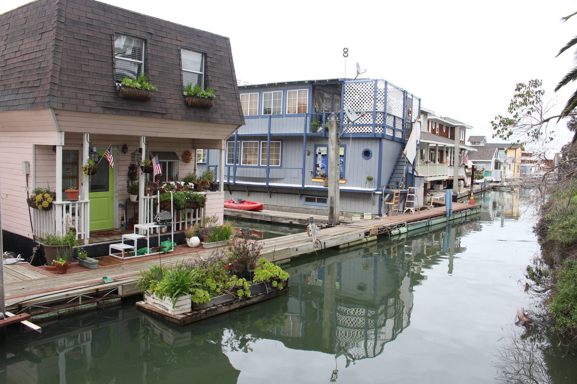 About 70 liveaboards are moored at Redwood City's Docktown Marina --  floating buildings or boats adapted for residential uses. The city is looking to potentially relocate residents. Farida Jhabvala Romero / KQED