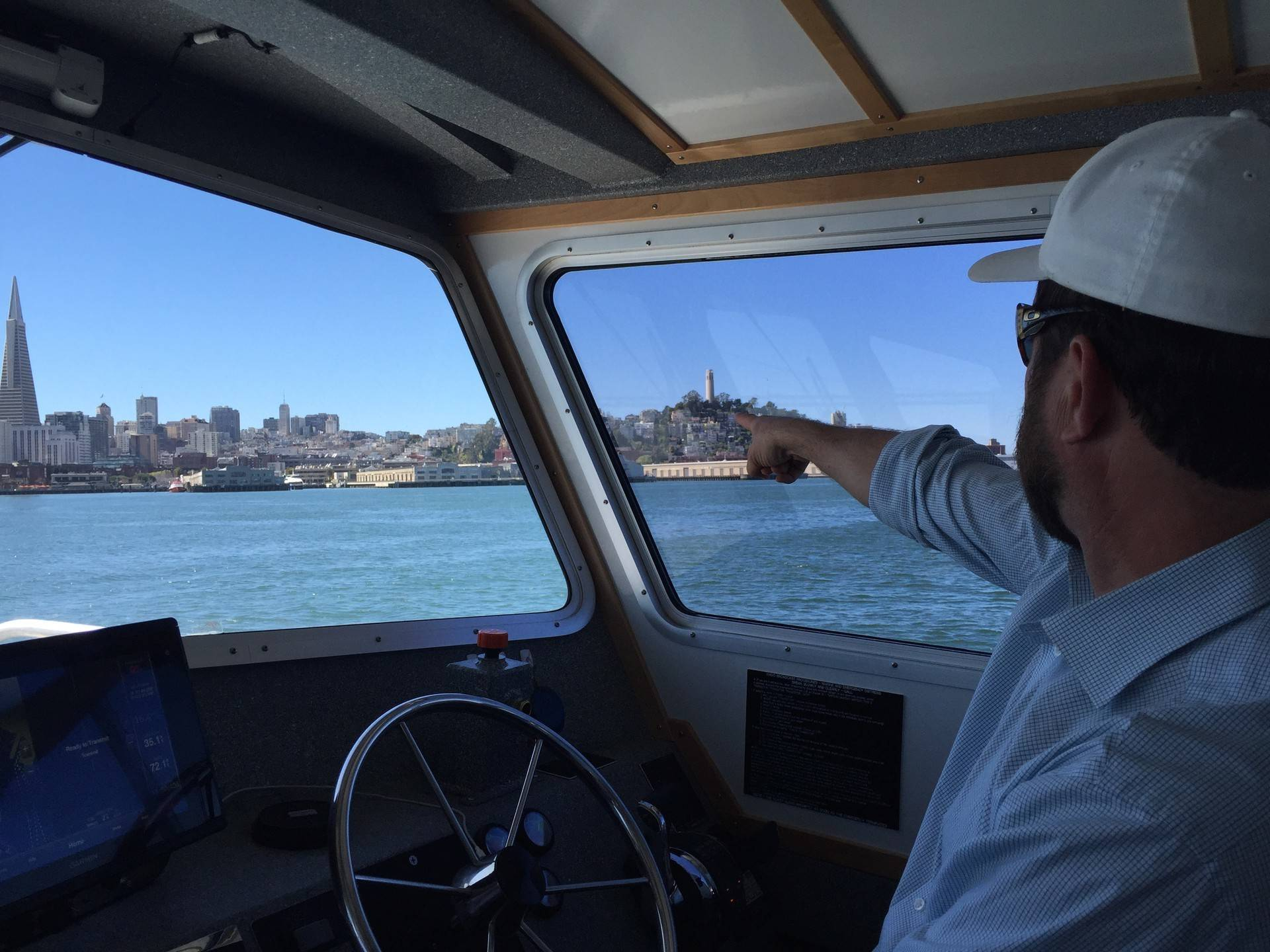 James Jaber is the head of Prop SF, a private company which ferries workers from San Francisco to Redwood City.