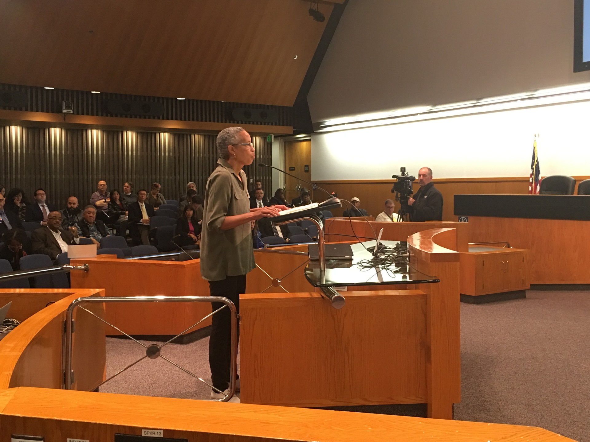 Blue Ribbon Commission chair LaDoris Cordell before the Santa Clara County Board of Supervisors.