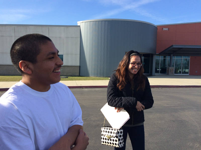 Rafael Armenta, 16, is released to his family from the Yolo County juvenile detention facility on Feb. 6, 2016, after seven months of immigration detention in the custody of the Office of Refugee Resettlement.