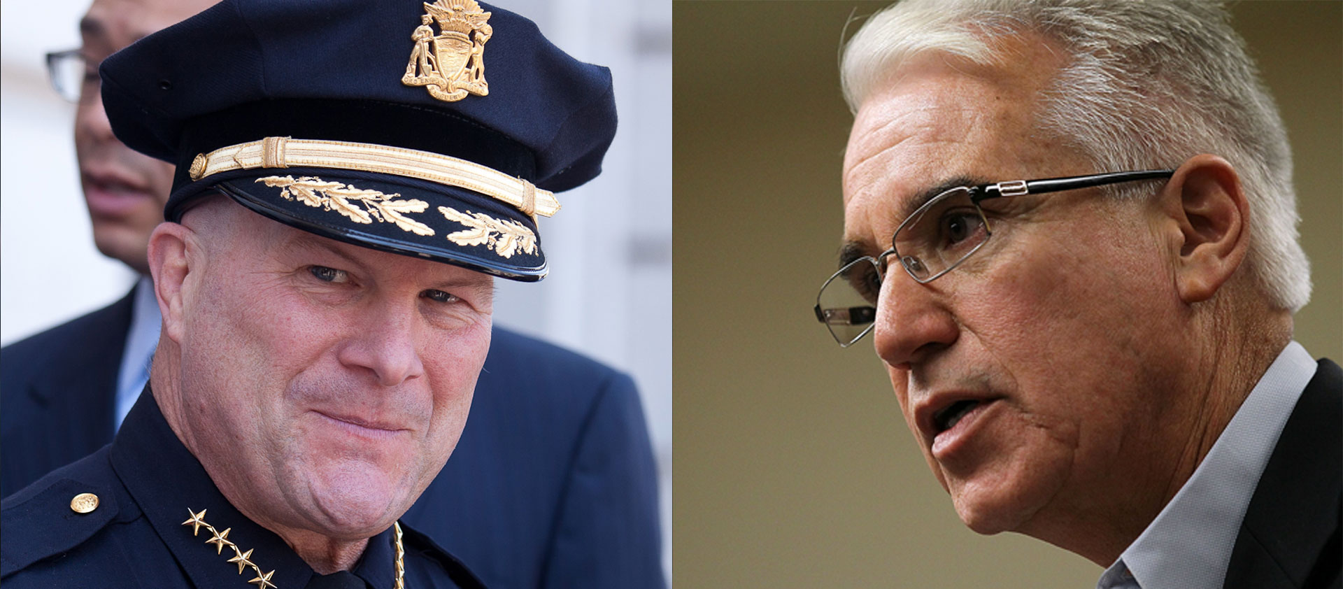 San Francisco Police Chief Greg Suhr and District Attorney George Gascón are trading letters over who knew what and when about a recently discovered batch of racist and homophobic text messages exchanged between SFPD officers.