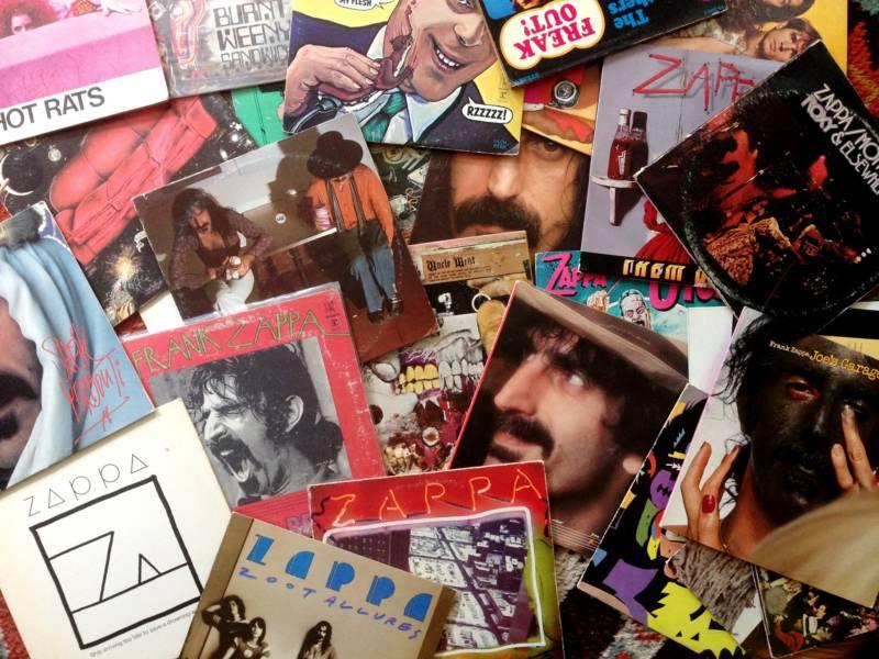 Montage of original Frank Zappa LP's