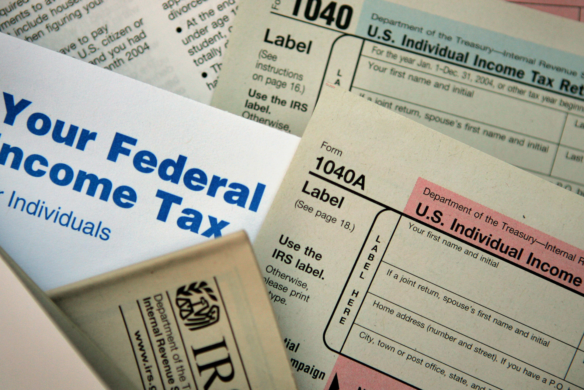 Current federal tax forms are distributed at the offices of the Internal Revenue Service