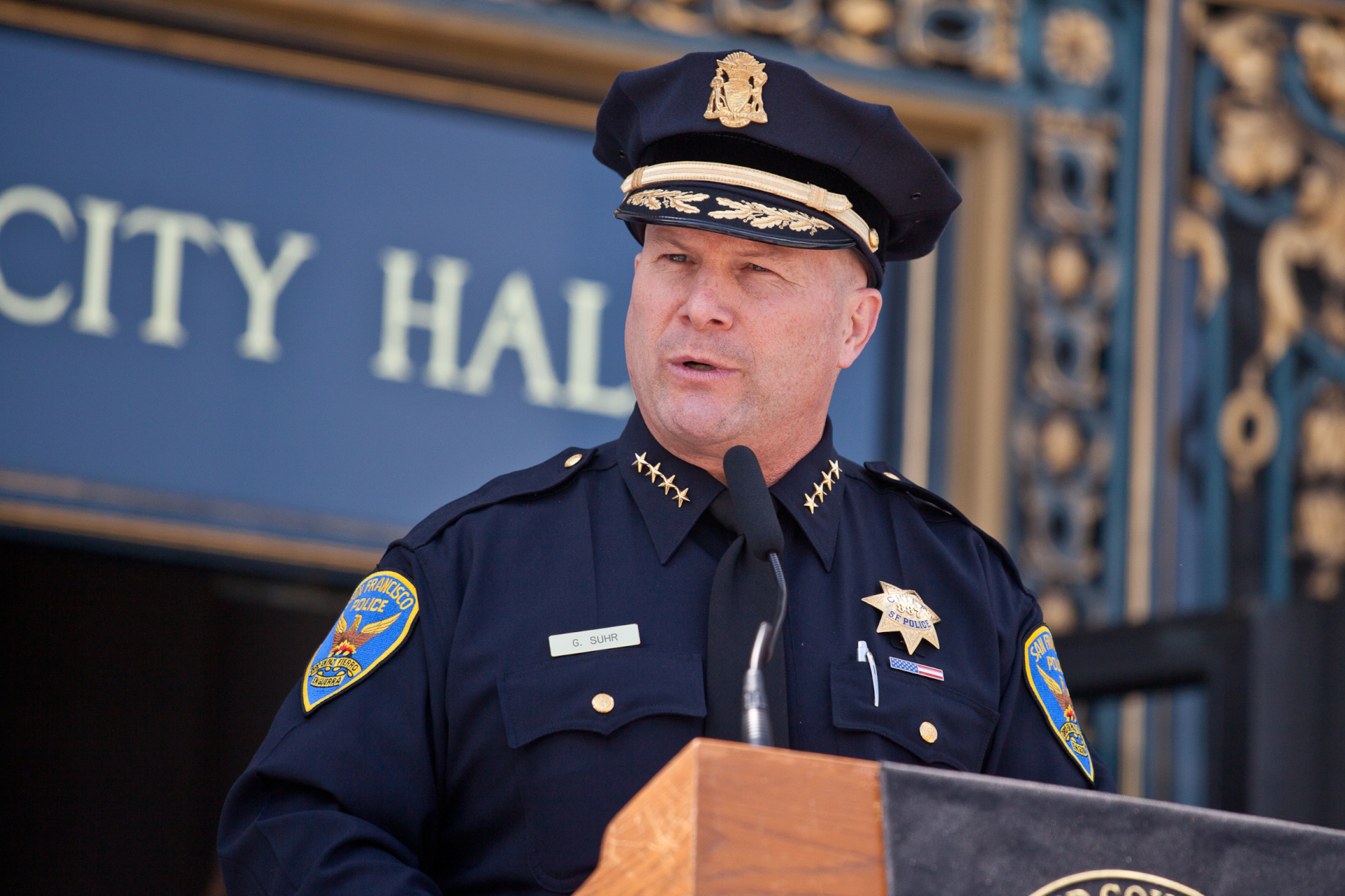 File photo of former SF Police Chief Greg Suhr.