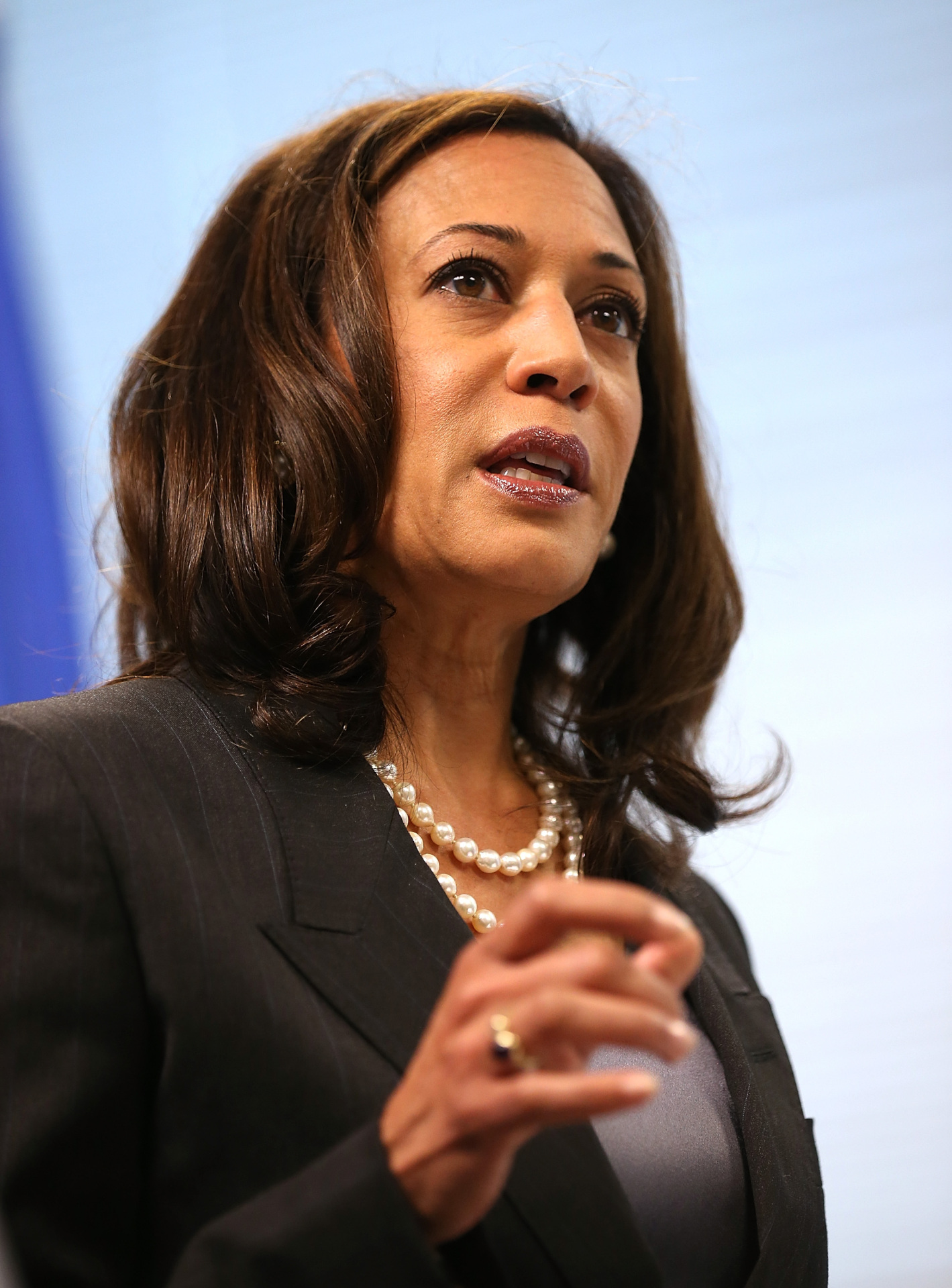 California Attorney General Kamala Harris speaks during a news conference in 2013.