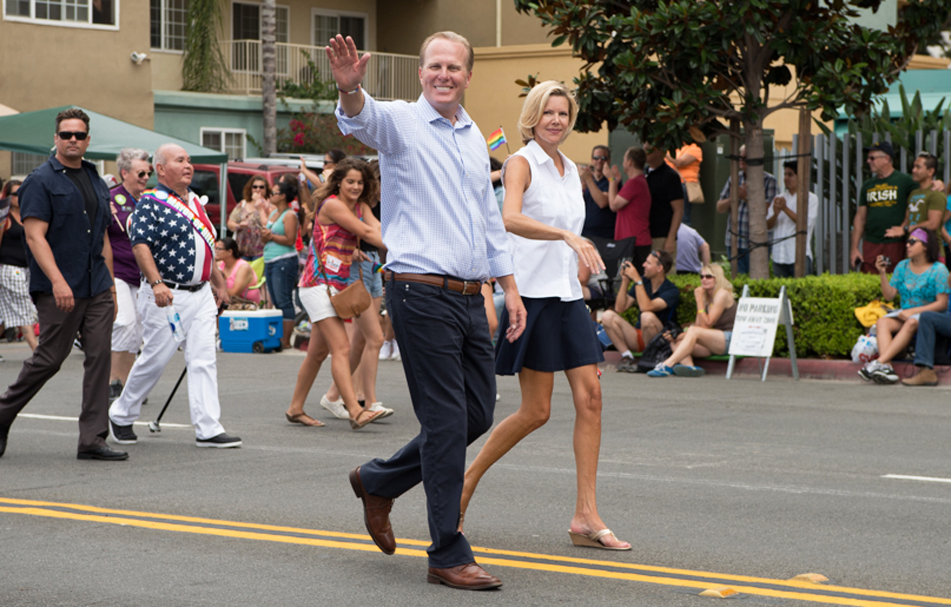 Mayor Kevin Faulconer marches in San Diego's 2014 LGBT Pride Parade. San Diego is the largest city in the U.S. with a Republican mayor.