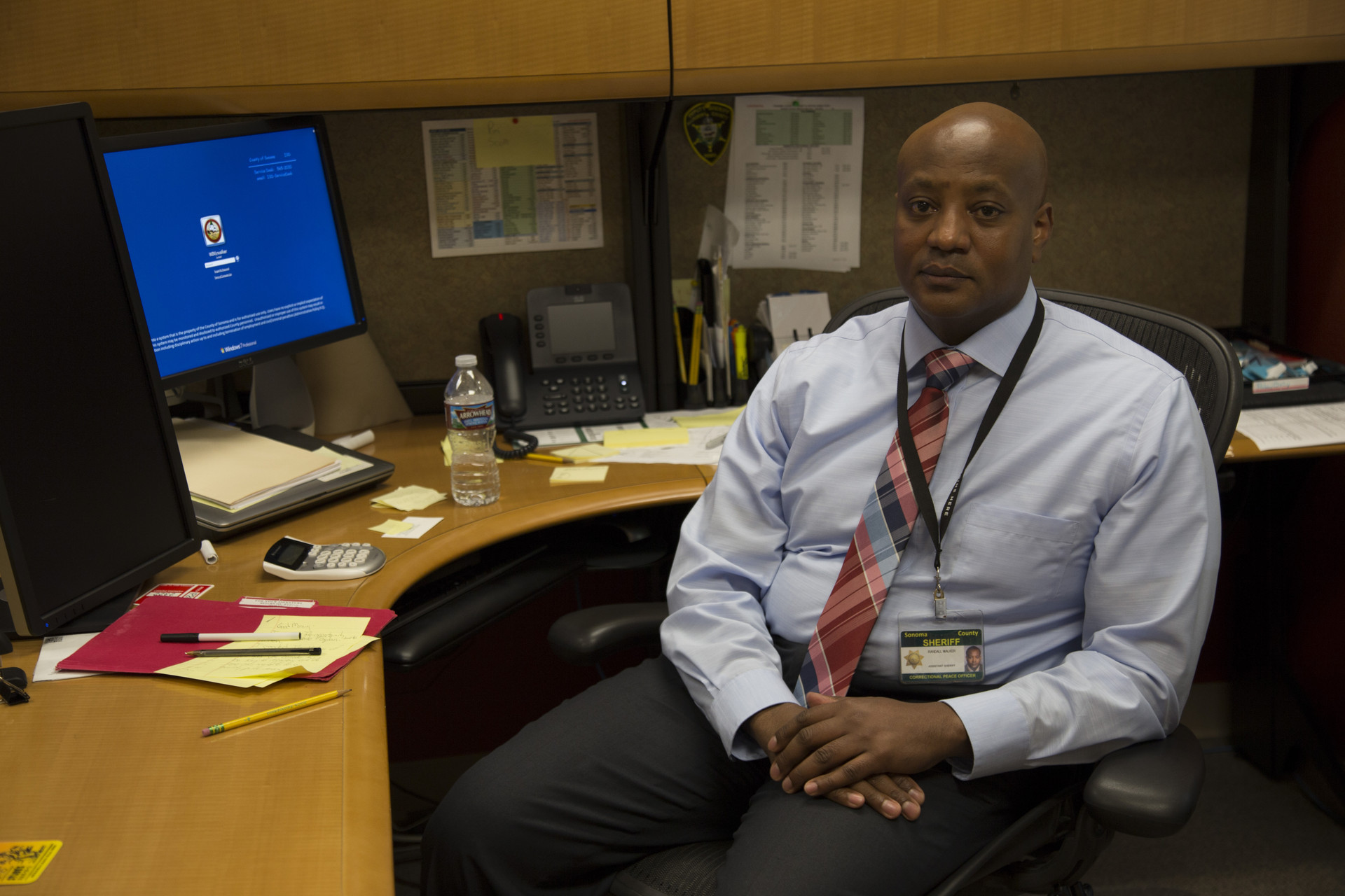 Sonoma County Assistant Sheriff Randall Walker in his office at Main Jail.