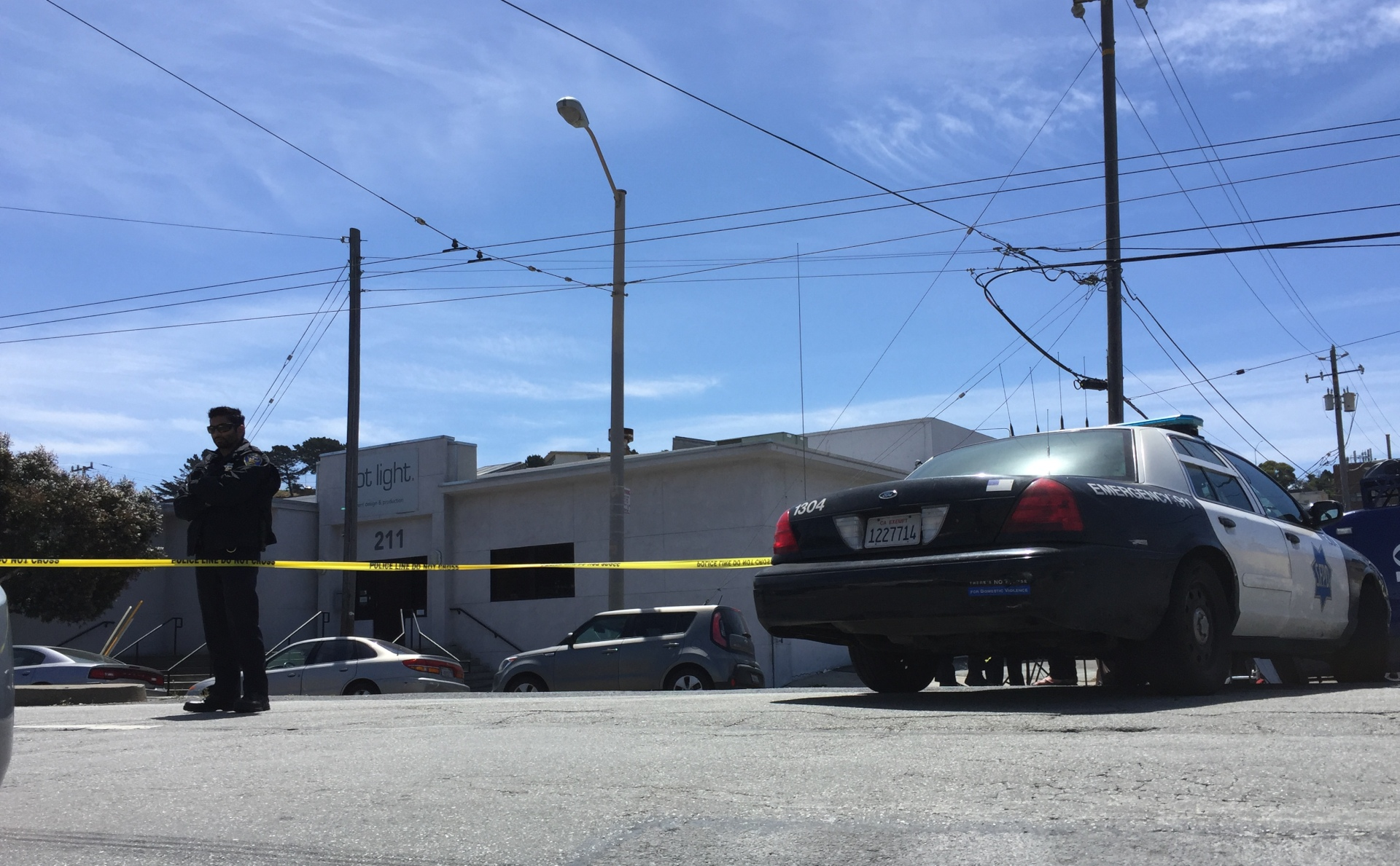 The scene of a fatal San Francisco officer-involved shooting on May 19, 2016 in the city's Bayview neighborhood. City officials later confirmed that Sgt. Jason Eng mortally wounded Jessica Williams, 29, when he fired a single gunshot as he and another officer attempted to remove Williams from a car that had been reported stolen.