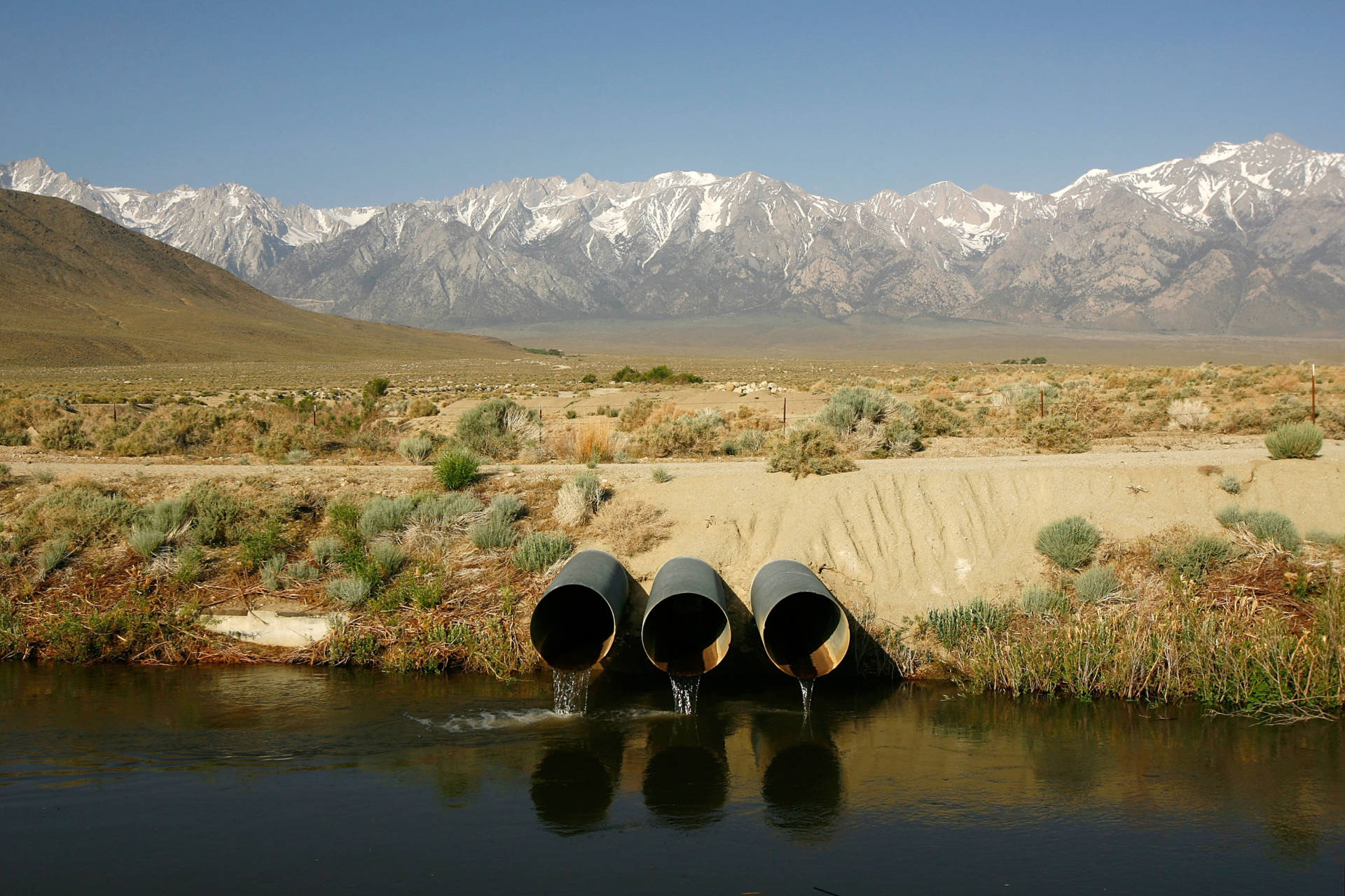 Californians depend on the Sierra snowpack for about a third of their water supply. This photo is from 2008.