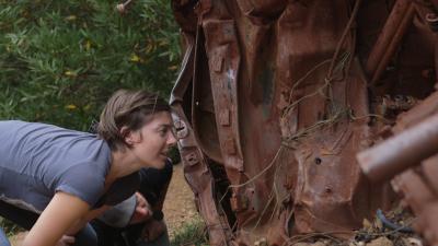 KQED's Katrina Schwartz and listener Kermit Robbins explore the wreck.