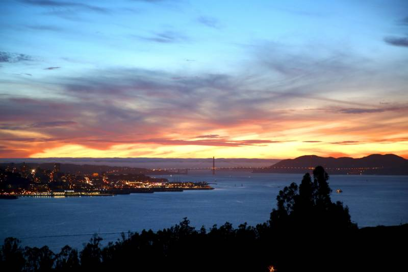 The view from the Signal Room, facing west towards the Golden Gate.
