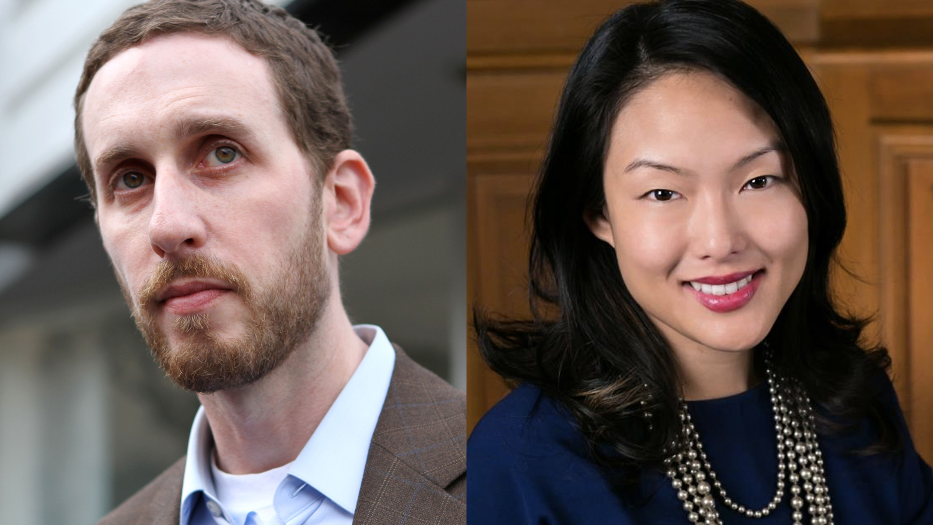 San Francisco supervisors Scott Wiener and Jane Kim.