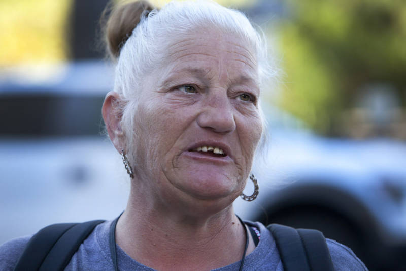 Debbie Bartley, 55, lives in a trailer in Sacramento but worries about becoming homeless again.