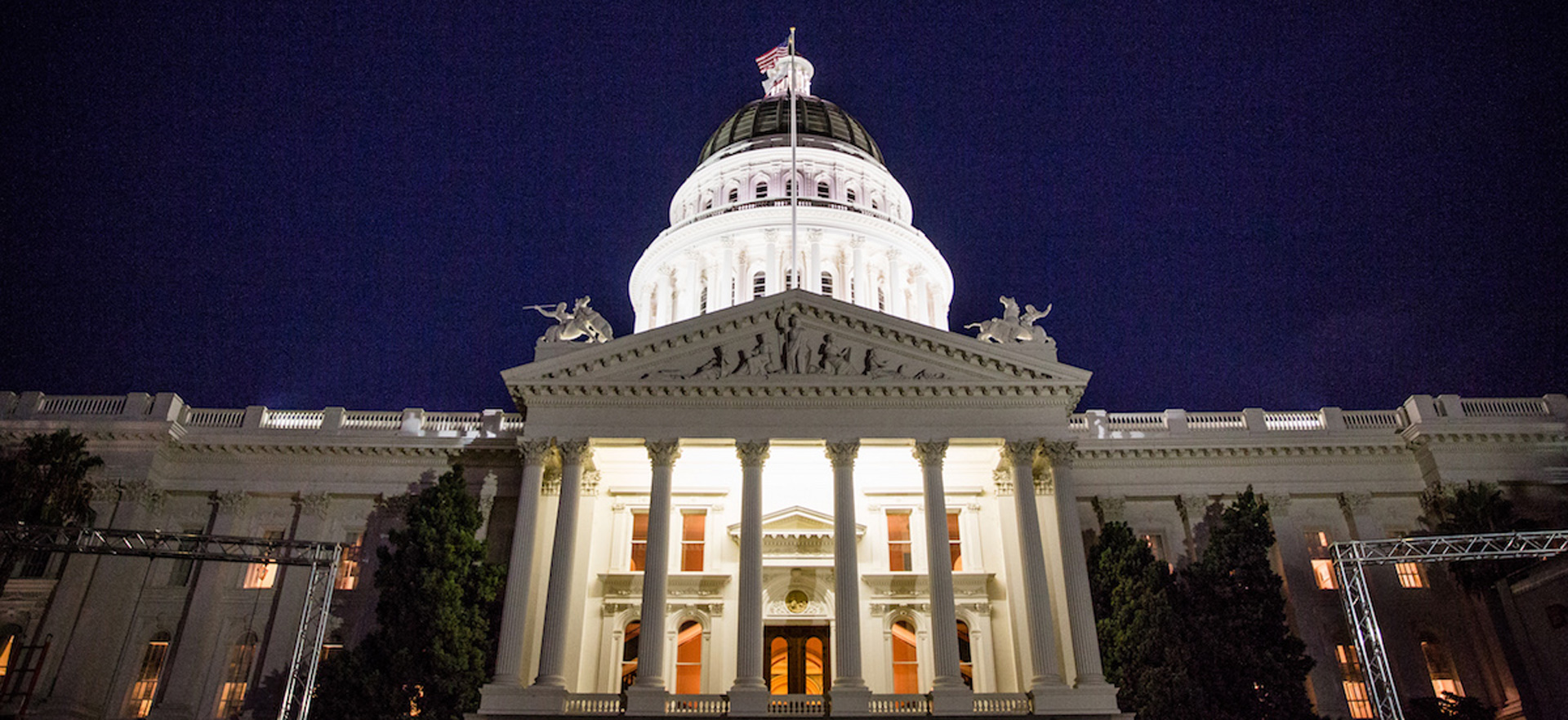 The California Capitol in Sacramento.