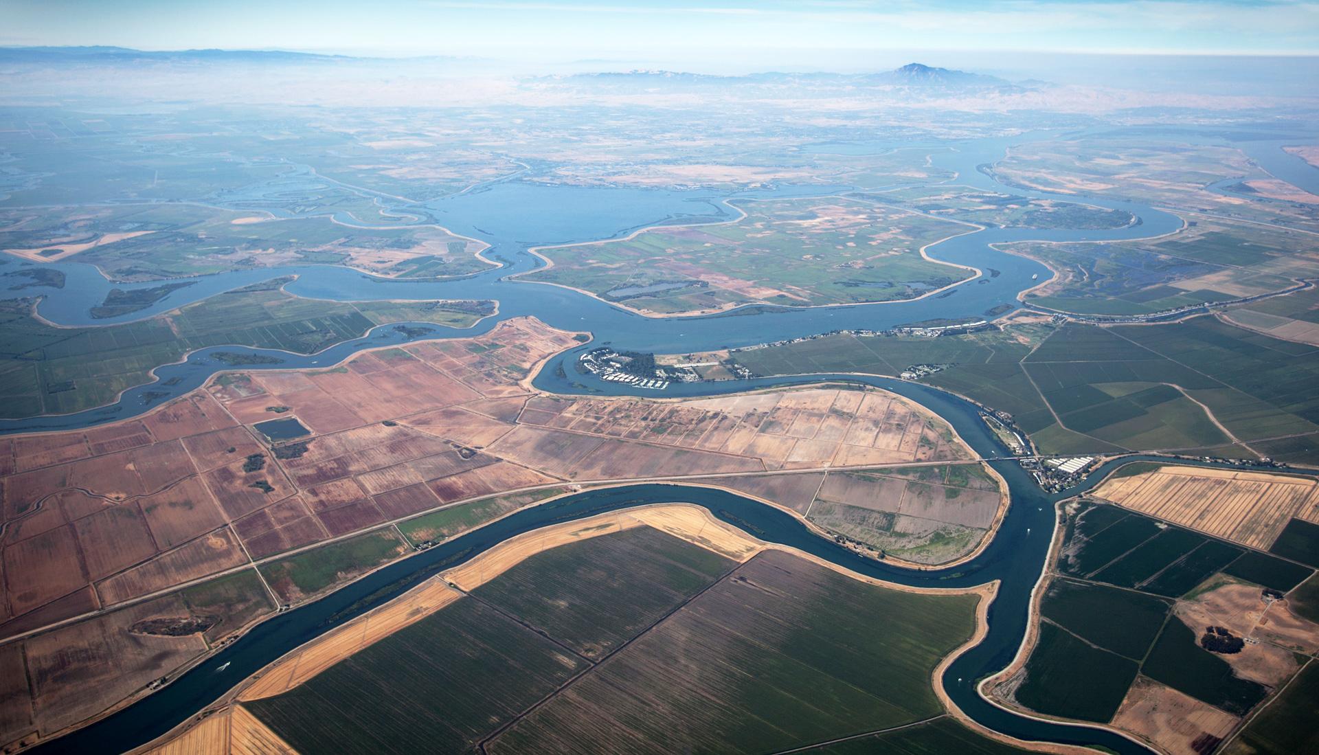 The Sacramento-San Joaquin Delta.