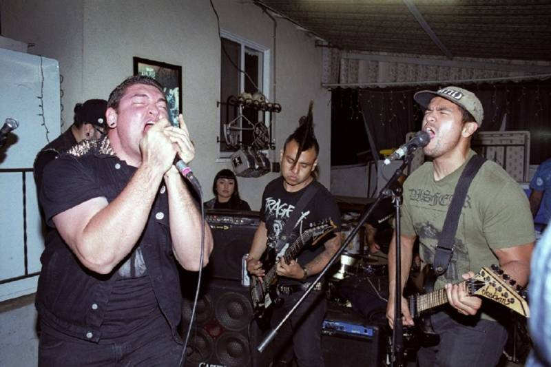 he band Corrupted Youth, a lynchpin in the East and South L.A. backyard punk scene.